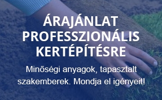 Árajánlat professzionális kertépítésre - 2020