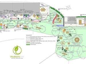 Kerttervezés - Növények és tereptárgyak helyének megtervezése